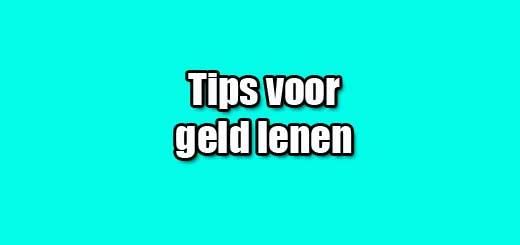 tips voor geld lenen