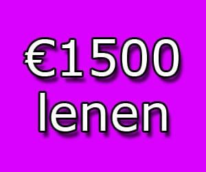 1500 lenen