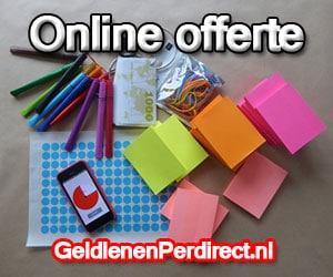 Snel geld lenen met online offerte