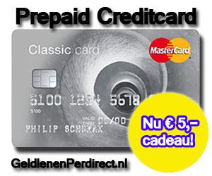 Prepaid creditcard zonder bkr toetsing