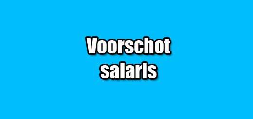voorschot salaris