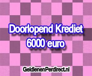 Doorlopend krediet 6000 euro