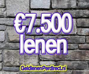 7500 euro lenen met een doorlopend krediet
