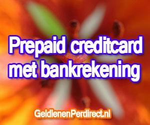 Prepaid creditcard met bankrekening