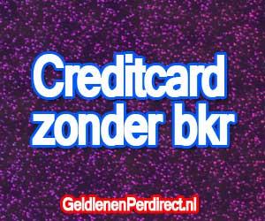 Creditcard zonder bkr