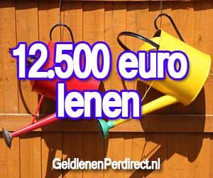 Vertrouwd ergens 12500 lenen