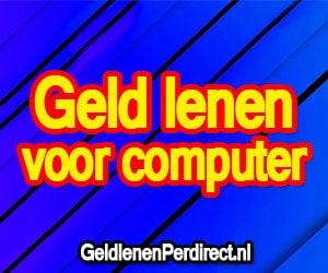 Geld lenen voor nieuwe computer