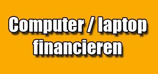 computer laptop financieren