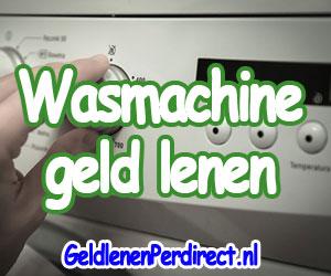 Snel geld lenen voor nieuwe wasmachine
