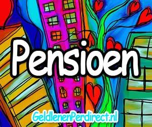 Geld lenen met pensioen