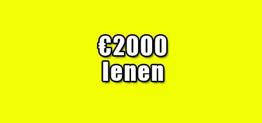 2000 euro lenen