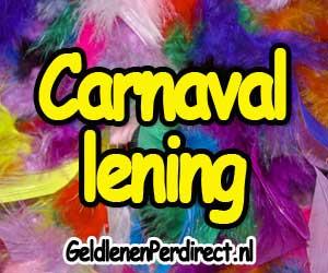 Geld lenen voor carnaval