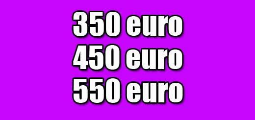 350 450 550 euro lenen
