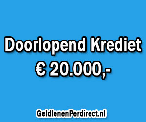 Doorlopend krediet 20000 euro met lage rente