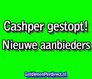 cashper minilening gestopt