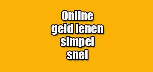 online geld lenen simpel snel