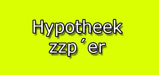 hypotheek zzp´er