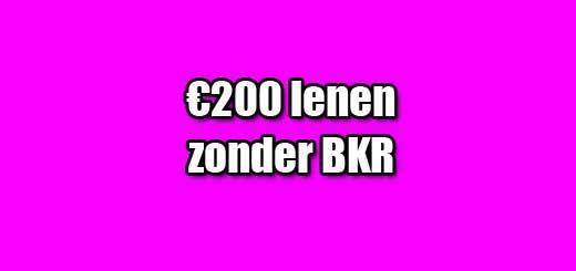 200 euro lenen zonder bkr