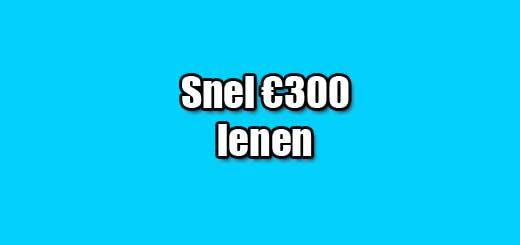 snel 300 euro lenen