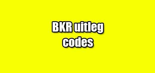 bkr uitleg codes