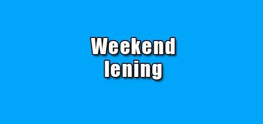 weekend lening